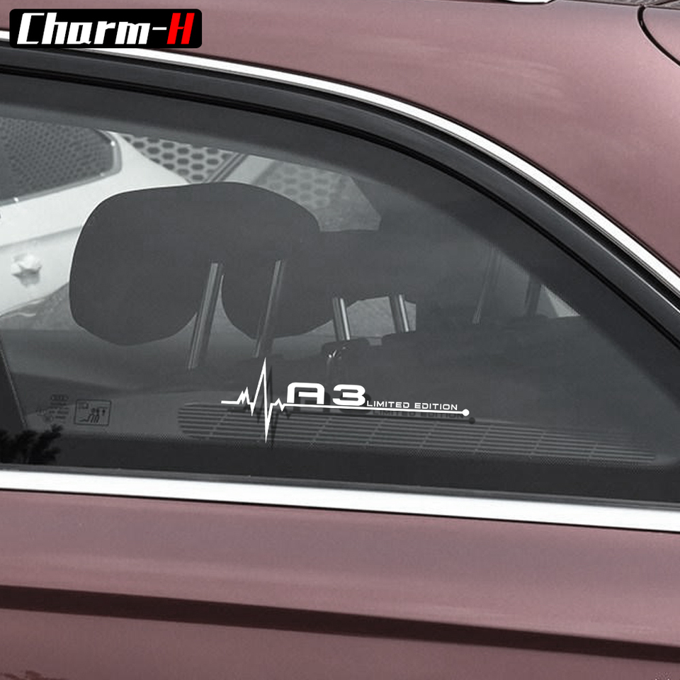 Compatible product AUDI S3 Wing Mirror Glass Silver Frosted Car Vinyl Stickers