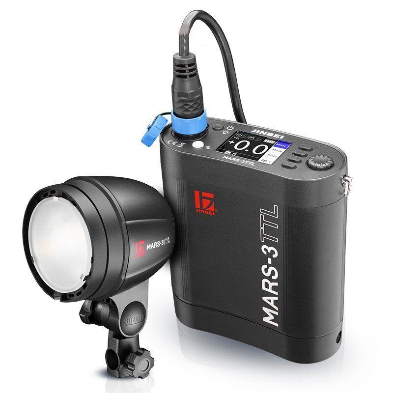 Jinbei MARS-3 300W 300WS 1/8000s HSS TTL Studio Strobe Flash with Battery Pack
