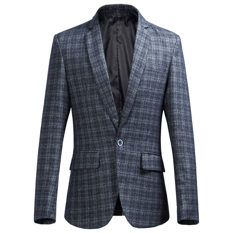 New 2018 Casual Des Cérémonie Taille Suit Slim gris Vestes Marque m Automne Bleu Blazer Mode Bleu Plus Smoking Chaude Hiver 6xl Vêtements La Business De marine Hommes Fit HYaqxdHvw
