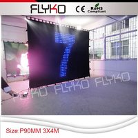 Free shipping 3*4m p9cm China Wholesale Video Led Curtain DMX Laser Disco Light DJ Equipment Stage Light