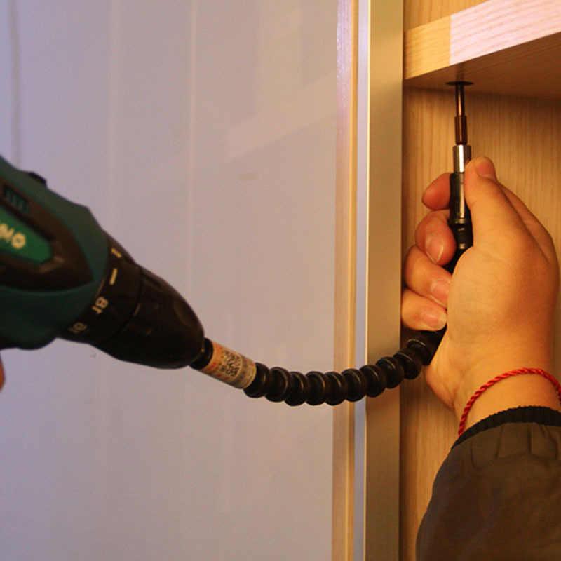 "Car Repair Tools Black 295mm Flexible Shaft Bits Extention Screwdriver Bit Holder Connect Link Electronics Drill 1/4"" Hex Shank"