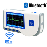 [Bluetooth] Handheld continous ECG Heart Monitor, Portable Chest Limb Hand EKG with Lead Wire,results heat rate measurement