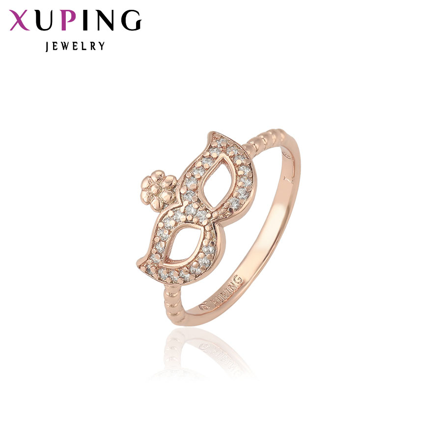 Xuping Fashion Ring Special Design Rings for Women High Quality Gold Color Plated Synthetic CZ Jewelry Christmas Gift 13077