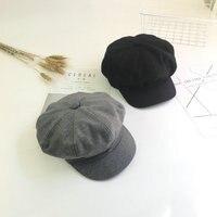2018 Fashion Octagonal Cap Women Woolen Newsboy Caps Painter Beret Hats