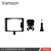Vamson Voor Sj6000 Accessoires Plastic Frame Case Voor Sj4000 Beschermende Border Frame Voor Sjcam Wifi Sport Actie Camera VP640