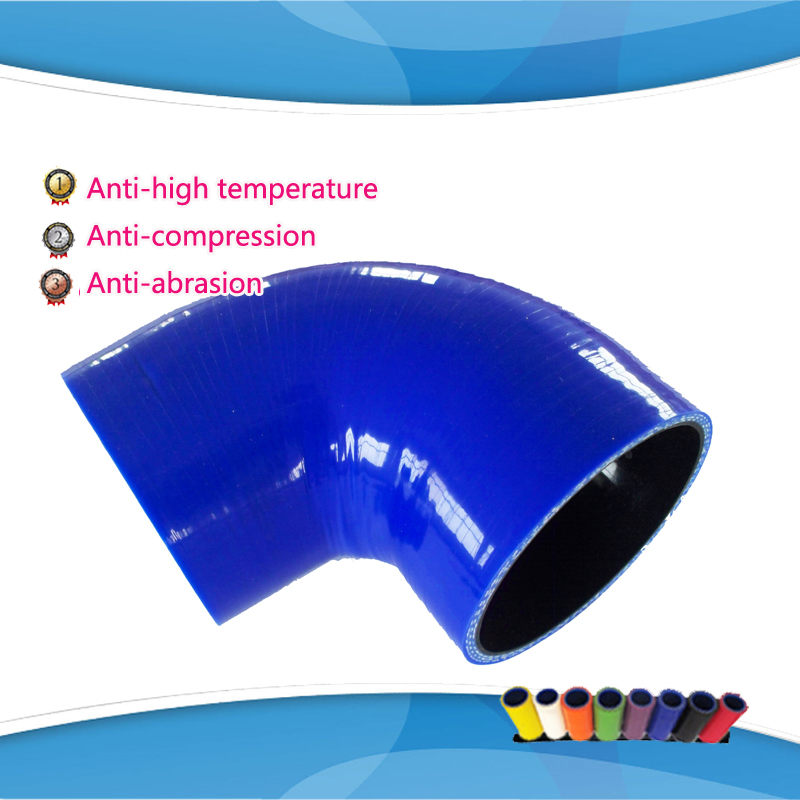 BLUE  MERRY (1pc) ID:76mm 80mm 83mm 89mm 90 Degree Standard Elbow silicone hose  Coupler Turbo Intake Hose
