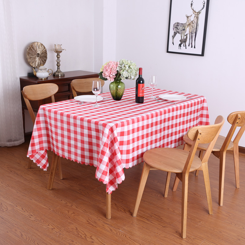 Simple And Generous Rural Style Home Dining Table Cloth Restaurant Rectangular Round Picnic Plaid Cloth Red Checkered Tablecloth Tablecloths Aliexpress