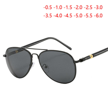 Women Men Myopia Sunglasses With Degree Classic Driving Short sighted Eyewear Diopter SPH  0.5  1.0  1.5  2.0  2.5 T0  6.0