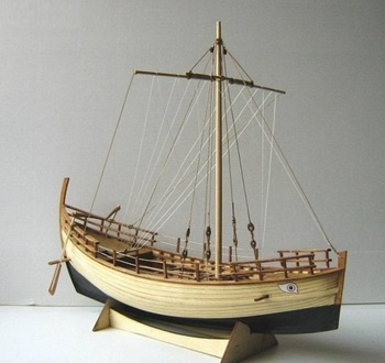 Free shipping Classic wooden sailing boat wood scale 1/43 KYRENIA Greek merchant ship assembly model kit
