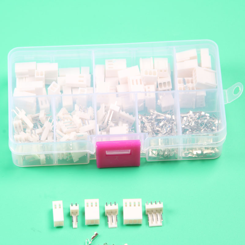 KF2510 Kits 50 sets Kit 2p 3pin 4 pin Pitch electrical connector with box male female 2.54mm wire connector terminal купить