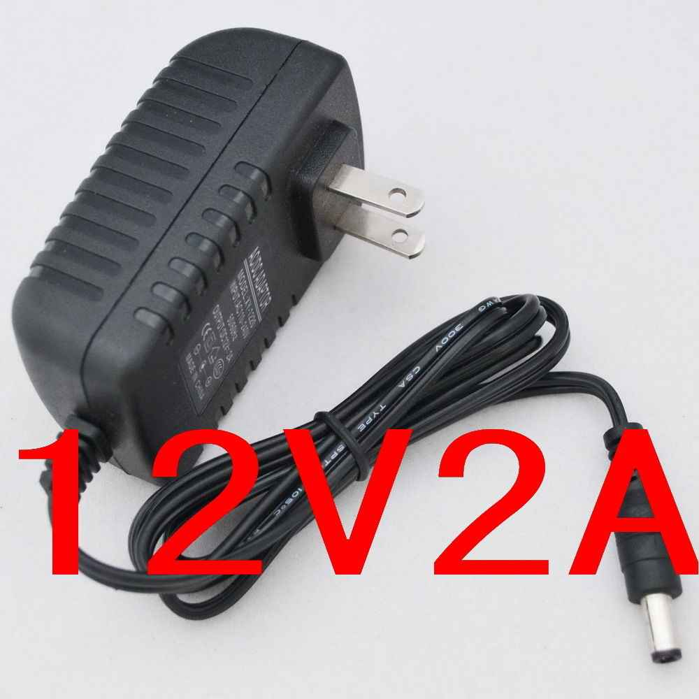 1 шт. Высокое качество 12 V 2A AC 100 V-240 V конвертер IC Мощность адаптер переменного тока 2000mA 24 Вт Питание штепсельная вилка американского стандарта DC 5,5 мм x 2,1-2,5 мм Новый