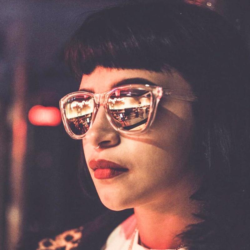 Dokly lens Rose Gold zonnebril clear frame vrouwen Reflecterende - Kledingaccessoires - Foto 4