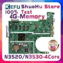 SHELI F200MA For ASUS X200MA K200MA REV2.1 CPU N3520/N3530 Memory 4GB laptop motherboard tested 100% work original mainboard
