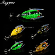 2016 Free Shipping 1pcs Hard Cricket Fishing Lure Plastic Cicada Crankbait Bait Lure 4CM/6G