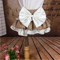 Ruche Luier Cover Kaki Witte bloem meisje Bloeier Kaki Franje Baby Meisje Slipje Peuter Ruche Rok Verjaardagscadeau
