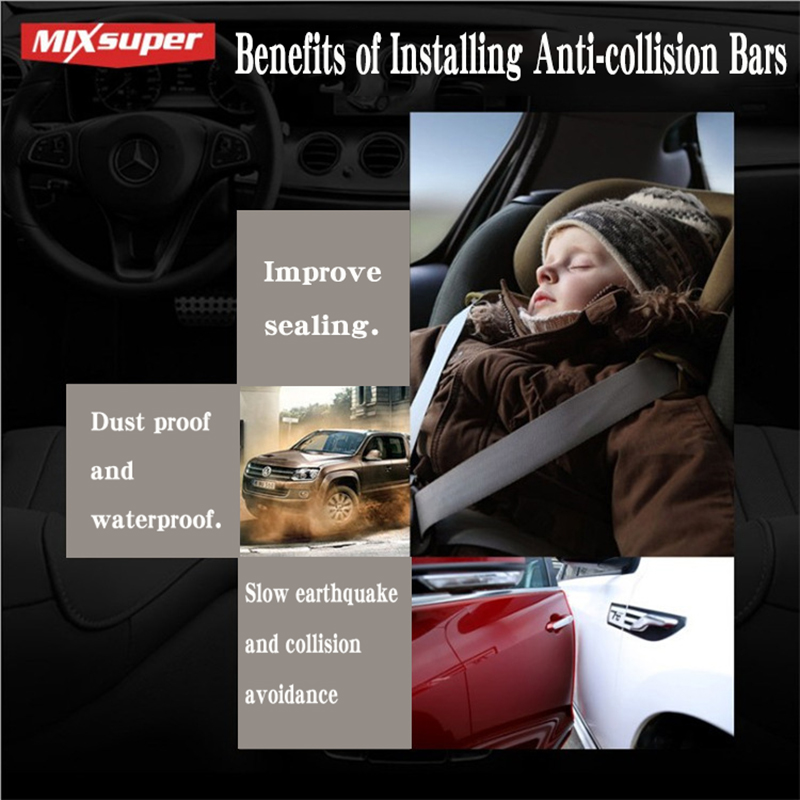 Image 2 - 5Meter U type door seal car sound insulation car door sealing strip rubber weatherstrip edge trim noise insulation Anti collisio-in Styling Mouldings from Automobiles & Motorcycles