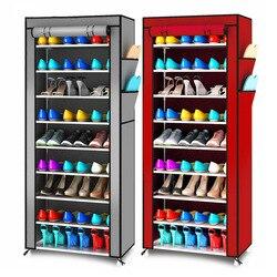 現代ミニマリストアセンブリシューズオーガナイザー収納不織布立ち省スペース靴キャビネットクローゼット 9 層シューズラック