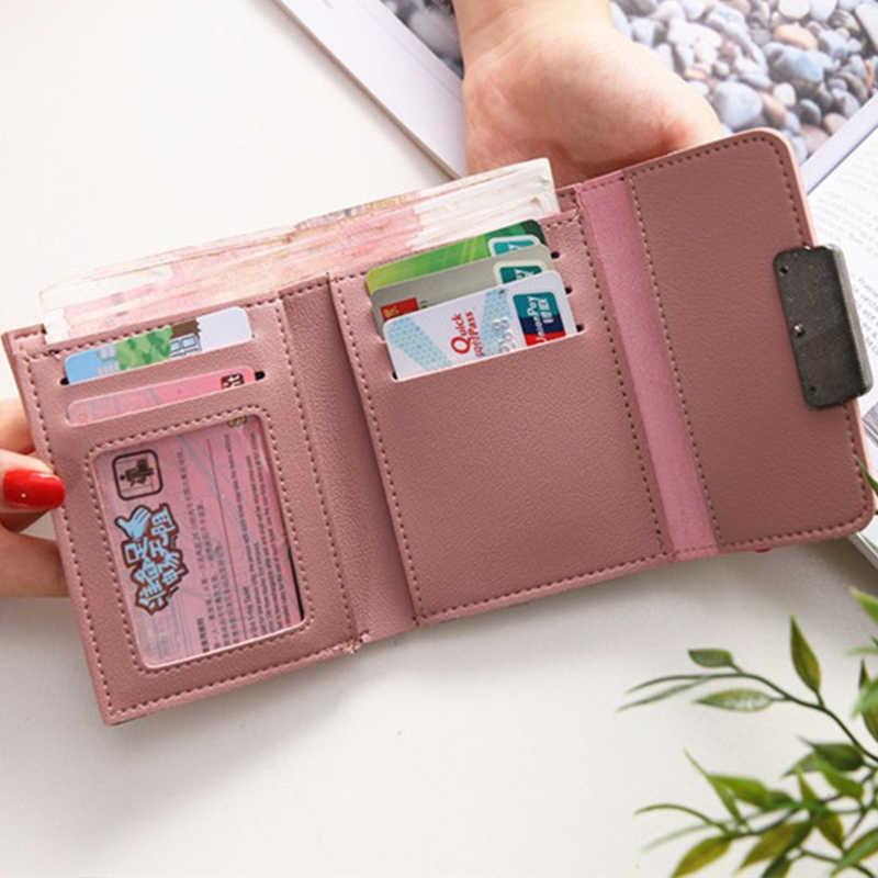 ASSEZSAC новый женский кошелек Повседневный однотонный маленький кошелек модный женский короткий Мини Универсальный корейский студенческий портативный маленький кошелек
