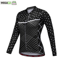 WOSAWE Women's Cycling Jersey comfortable female Bicycle clothing Mountain Bike Ropa Ciclismo Sports Wear motorcycle Jersey