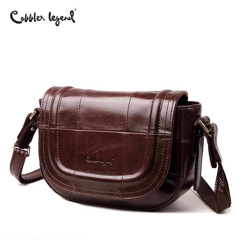 Cobbler Legend Vintage Women Messenger Bag Genuine Leather Crossbody Bags Purse Fashion Shoulder Bag Lady Handbags Brand