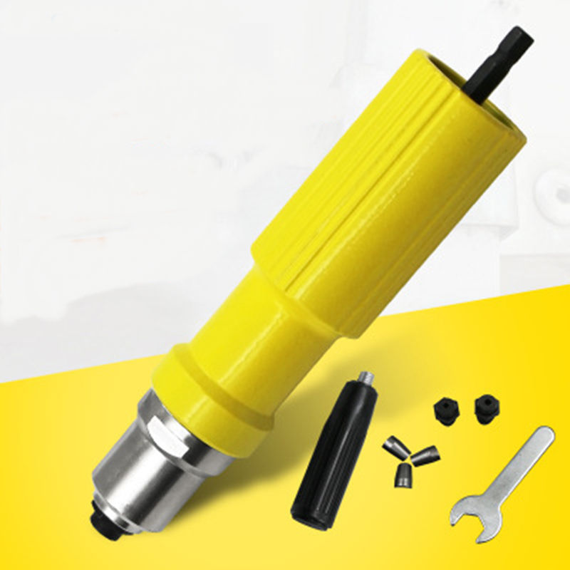 Electric Rivet Nut Machine Riveting Tool Cordless Riveting Drill Adapter Riveter Insert Nut Tools Suitable For 2.2-3.2mm
