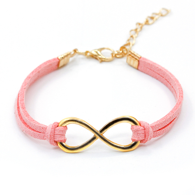 glow double the rainbow dark symbol bracelet infinity neon in cord