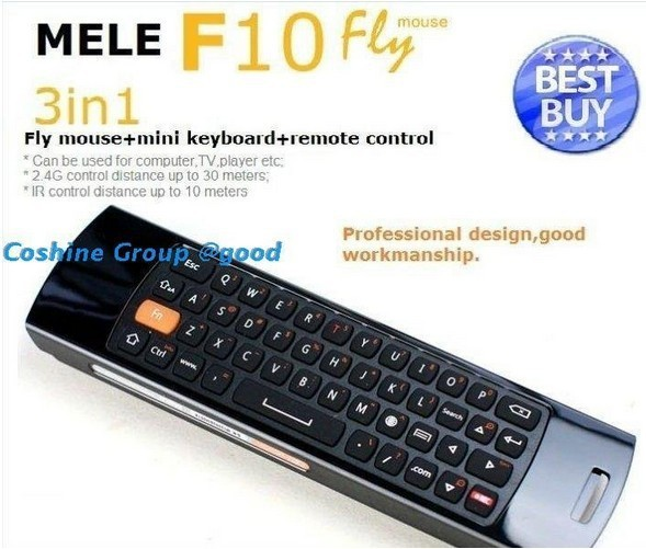 Set selling!  Mele F10 Seneor Remote,wilress mouse+remote control + Fly air mouse  Free shipping by DHL!!