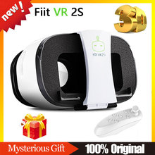 100% Original FIIT VR 2S Virtual Reality 3D Glasses Google Cardboard VR BOX BOBO VR +Bluetooth Gamepad Controller