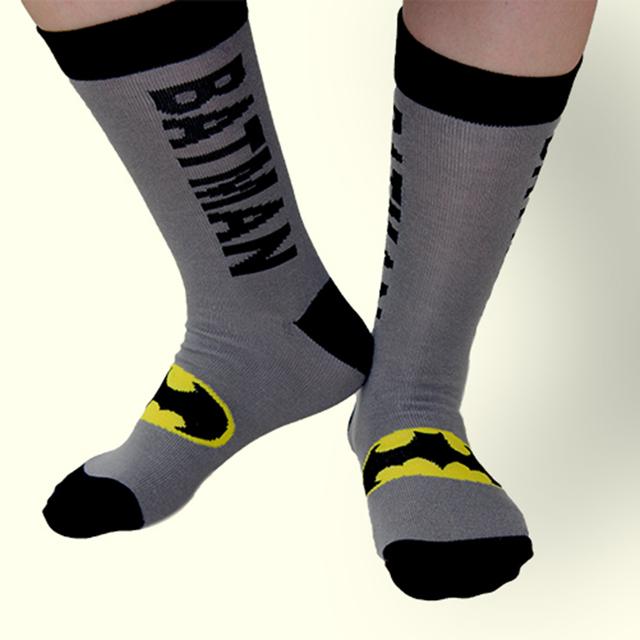 Superhero Patterned Cotton Jacquard Men's Socks