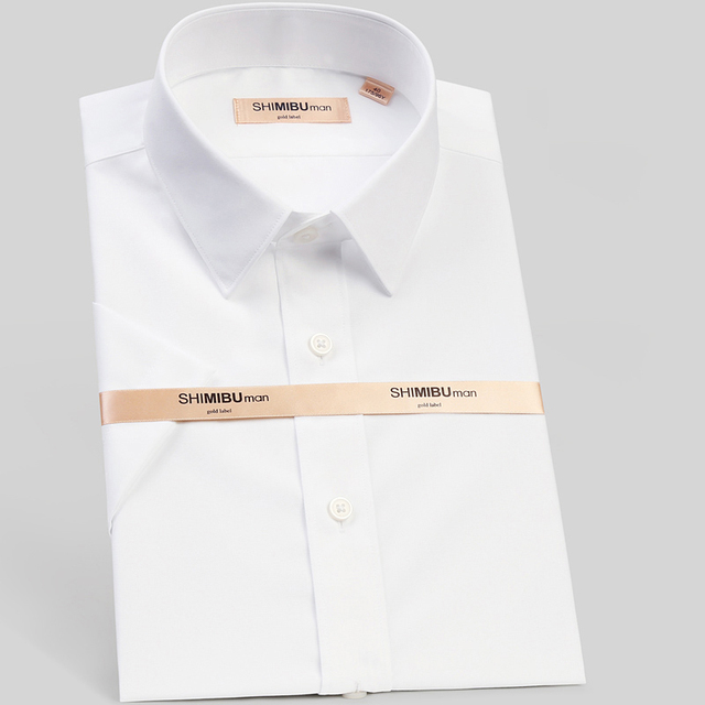 2016 summer business pure white shirts men wash and wear a half sleeve cotton short sleeve shirt, cultivate one's morality