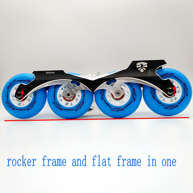 free shipping roller skates frame banana frame rockered frame and flat frame in one 243 mm-in Scooter Parts & Accessories from Sports & Entertainment    3