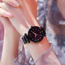 Zegarek damski luksusowe Damskie zegarki damskie Magnetic gwiaździste niebo zegar moda Diamond female kwarcowy zegarki na rękę Relogio feminino tanie tanio Quartz Brak Stopu Okrągłe 3Bar 27inch 10mm 15mm Hardlex Fashion Casual 34mm No package Stal nierdzewna Tephea magnetic watch