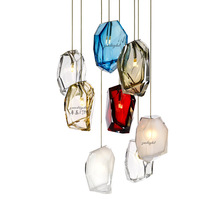 Modern LED chandelier living room pendant lamps bedroom luminaires Nordic dining room lighting fixtures Glass hanging lights nordic bedroom bedside u shaped hanging pendant lights modern lamps dining room living room bar led glass ball warm de fixtures