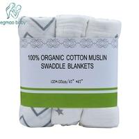 3pcs Lot 120 120 Muslin Baby Swaddling Blanket Bamboo Wrap Newborn Infant 100 Cotton Swaddle Towel