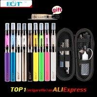 Free Shipping EGo E Cigarette CE4 EGo Kits 1 6ml Atomizer 650mah 900mah 1100mah Battery Zipper