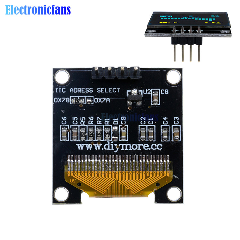 """0.96/"""" I2C IIC SPI Serial 128X64 OLED LCD LED Display Module SDA For Arduino New"""