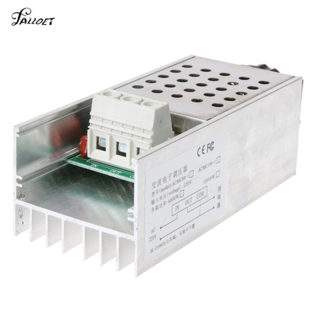 Dimmer 220V 10V 10000 W High Power SCR BTA10 Electronic Voltage Regulator Adjust Motor Speed Control Dimmer Thermostat