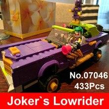 2017 Lepin 07046 Super Heroes Batman Movie Set The Joker s Lowrider Blocks Compatible 70906 Building