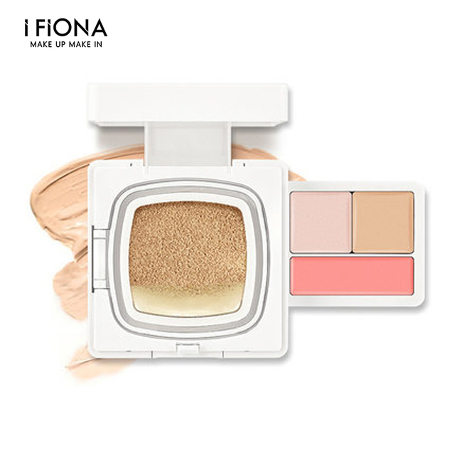 Professional IFIONA cushion BB 4in1 base face makeup set gift box with foundation brightener concealer blush cream cosmetics kit