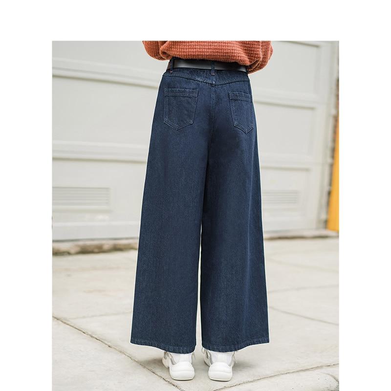 Mince Hiver Taille Blue Large Inman Femelle Nouvelle Lâche Rétro 2018 Pantalon Femmes Arrivée Haute XnppSz15