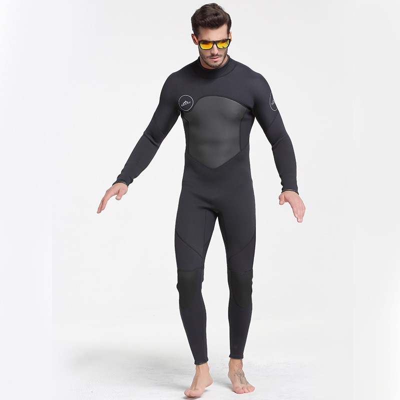 2017 Winter Outdoor Professional Snorkeling Diving Suits Men Swimwear Rashguard Man One Piece 3MM Neoprene Wetsuit Black M-3XL men s winter warm swimwear rashguard male camouflage one piece swimsuit 3mm neoprene wetsuit man snorkeling diving suit