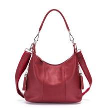 цена на Woman Handbags Genuine Leather Bag Female Hobos Shoulder Crossbody Bags High Quality Leather Totes Women Messenger Bags 2019