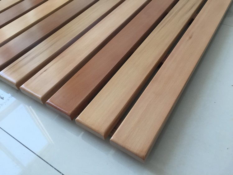 Massief houten vloer douche badmat matten pedalen corrosie custom in