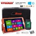 2017 Последним Vpecker Easydiag V8.7 OBD2 Bluetooth/Wi-Fi Автомобильный Сканер + 8 ''Windows Tablet 10 Автомобиля Диагностический инструмент Easydiag