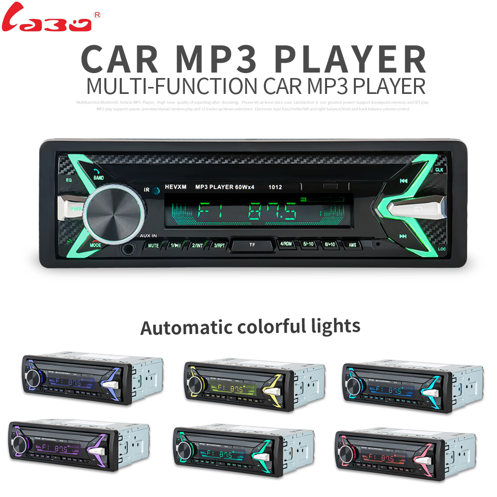 LaBo New 12V Car Audio Stereo Car Radio Bluetooth V3.0 In-dash 1 Din FM Aux Input Receiver SD USB MP3 MMC WMA Car Radio Playe