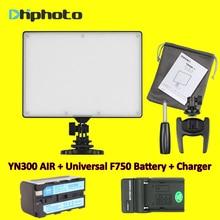 YONGNUO YN300 YN-300 de Aire LED Cámara de Vídeo Luz 3200 K-5500 K con Decoded Batería NP-F750 + Cargador para Canon Nikon y Videocámara