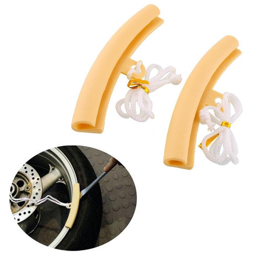 New 2pcs Motorcycle Saver Changing Tire Wheel Rim Edge Protectors For Suzuki Honda Yamaha Portable High quality