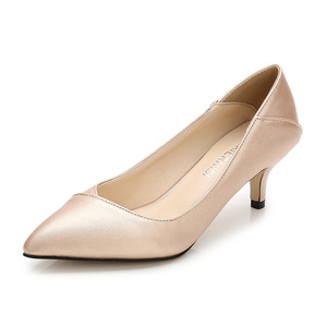 Image 3 - Plus Size 36 46 Women Shoes Pointed Toe Pumps Patent Pu Casual Shoes Kitten Heels Boat Shoes Wedding shoes  zapatos de mujer