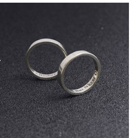 Wholesale Personalized Couple Silver Rings Engagement Silver Rings Custom Name 925 Sterling Ring Anniversary
