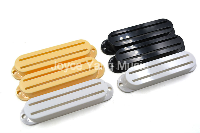 Niko 1 Set of 3pcs Cream/White/Black Dual Rail Humbucker Pickup Covers For Fender Strat/Tele Style Electric Guitar belcat bass pickup 5 string humbucker double coil pickup guitar parts accessories black